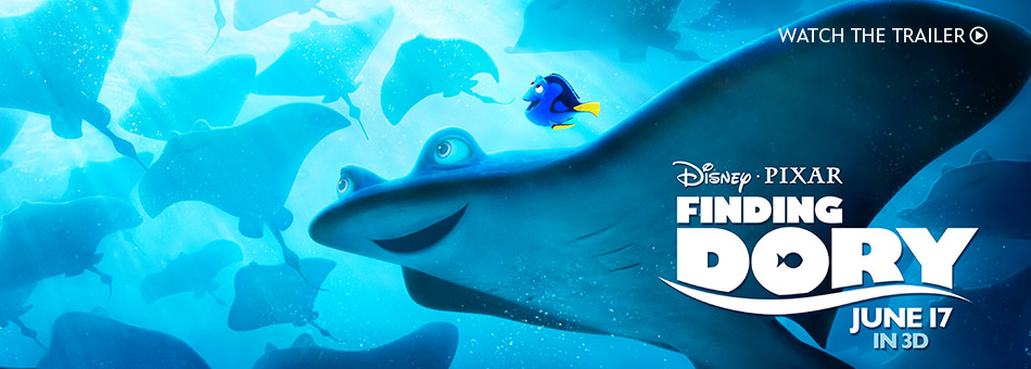 Disney Pixar Finding Dory - June 17 in 3D