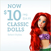 $10 Classic Dolls at Disney Store